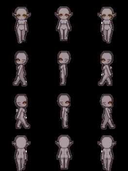 Free Sprite Resource - Elf Female Dark