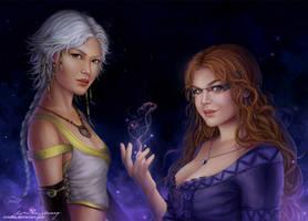 Natya and Selene by Zolaida