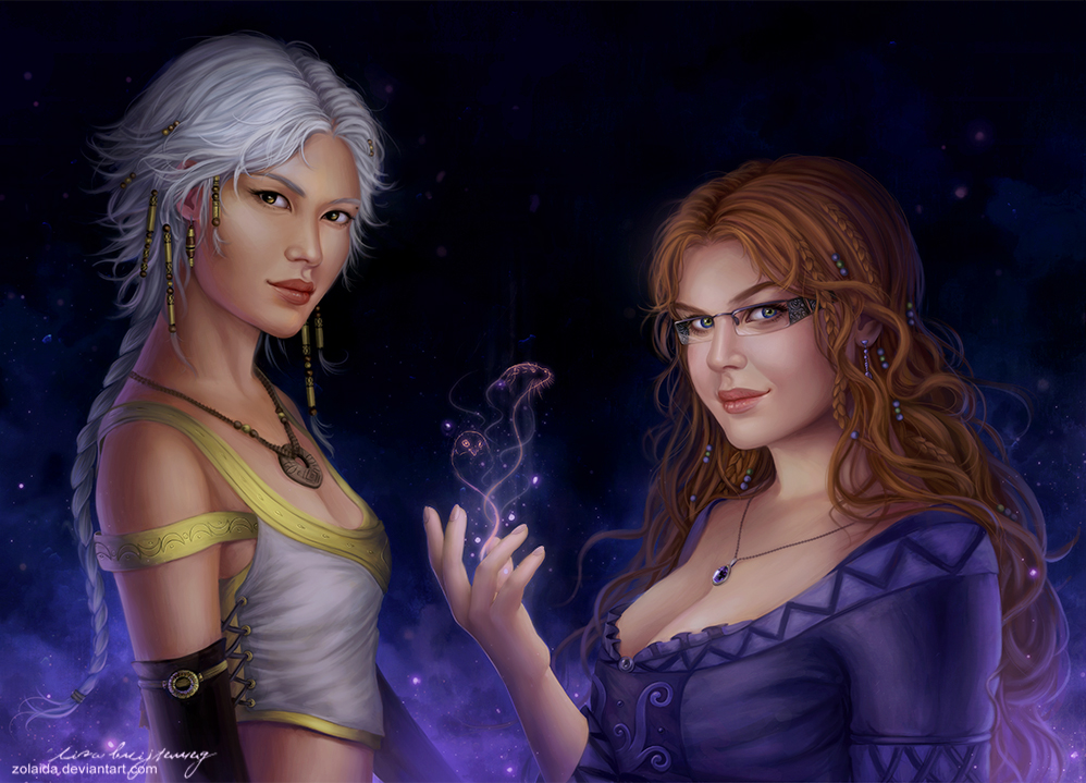 Natya and Selene by Zolaida