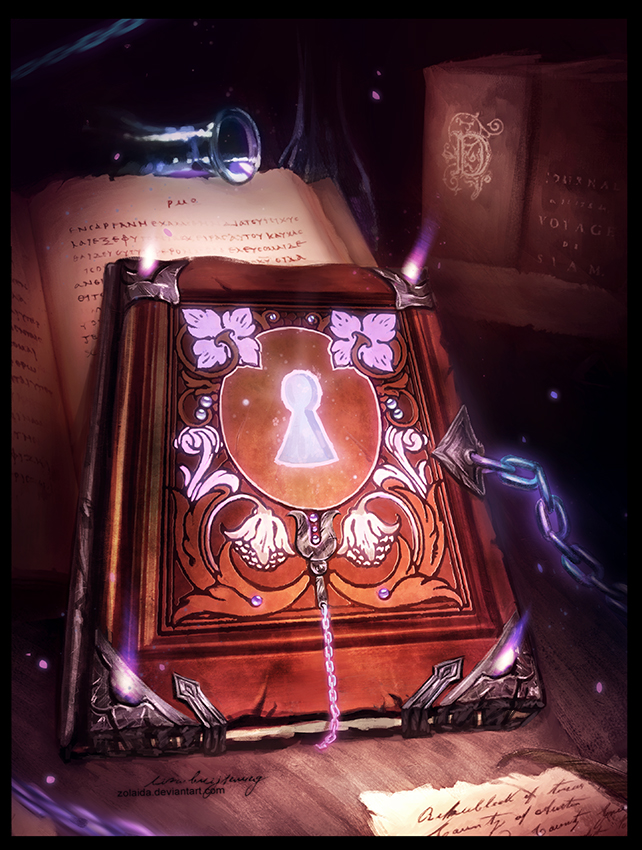 Deviantart Fantasy Book Cover : Gift magic book by zolaida on deviantart