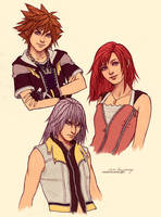 Kingdom Hearts sketches by Zolaida