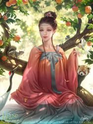 Legend of the Cryptids - Momo-no-Sei Taoshin by Zolaida