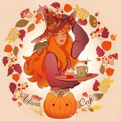 Autumn Cafe by Zolaida