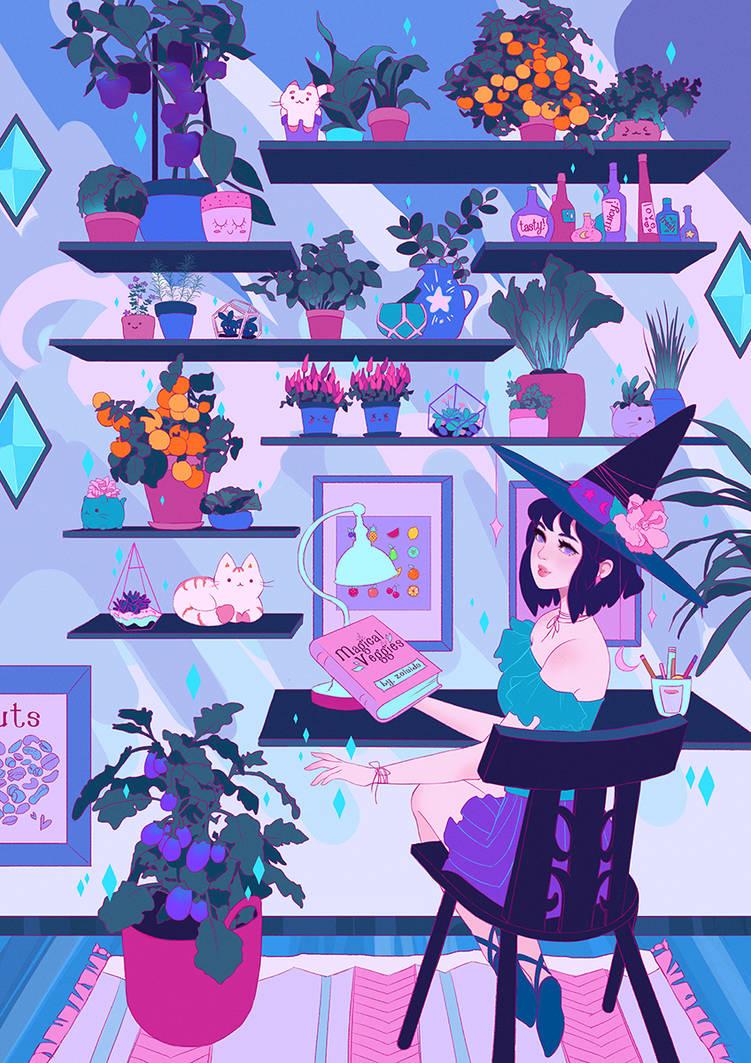 Magical Veggies by Zolaida
