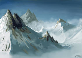 Speedpaint Mountain by Joey-B