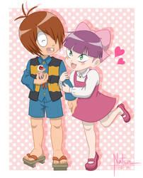 Kitaro and Neko musume by NATSZ