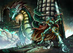 Face the Dragon - Secret of Dungeon Artwork by Vit-Tunissy