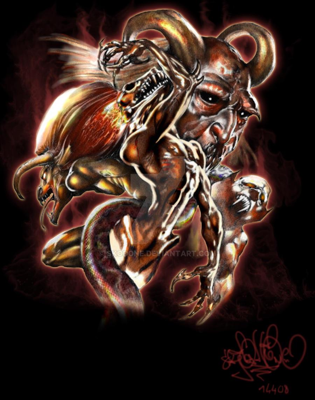 Demon Tattoo Wallpaper Inside Gothic Tattooskodone On Deviantart