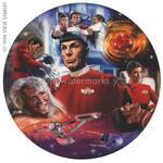 Star Trek- Spock Plate Art Illustration