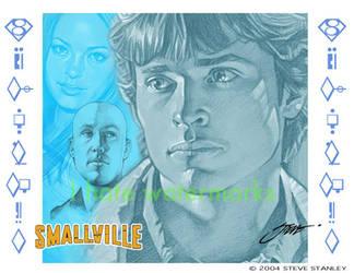 Smallville : Clark, Lana, Lex by SteveStanleyArt