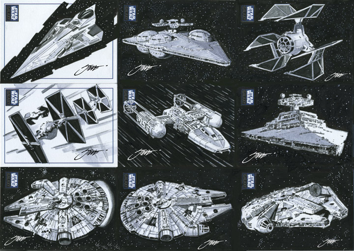 Star Wars Vehicle Ships-Millennium Falcon by SteveStanleyArt