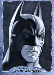 Batman-Christian Bale-Sketchcard by SteveStanleyArt