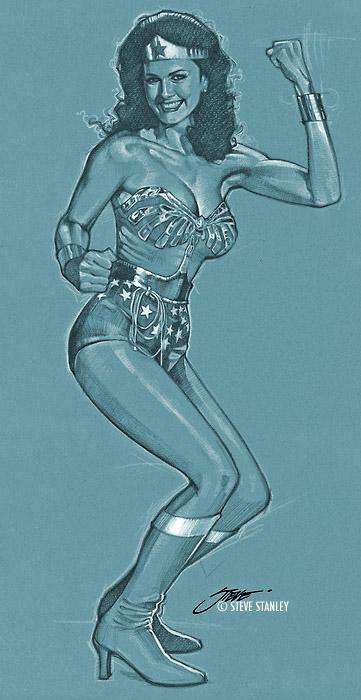 Wonder Woman/ Lynda Carter study by SteveStanleyArt