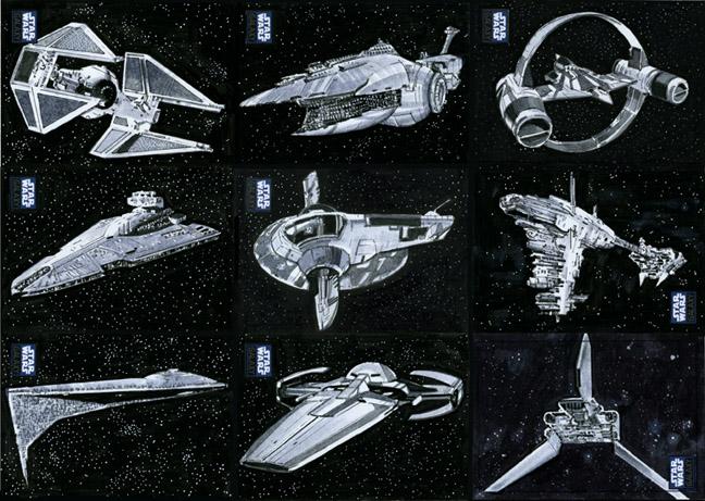 Star Wars Ships-Vehicle Sketchcards Topps #2 by SteveStanleyArt