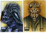 Star Wars: Darth Vader/Darth Maul-Sketchcards