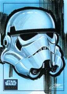 Star Wars Stormtrooper Sketchcard by SteveStanleyArt