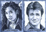 Firefly/Serenity: Zoe and Mal Sketch cards