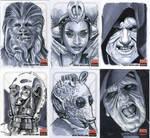 Star Wars Sketch cards! Egad!