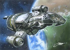 Serenity_Firefly_sketch card 2 by SteveStanleyArt