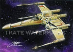 Star Wars_X-Wing Fighter_Sketch Card