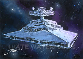 Star Wars--Imperial Star Destroyer-Sketch Card by SteveStanleyArt