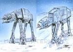 Star Wars AT-AT Walker cards