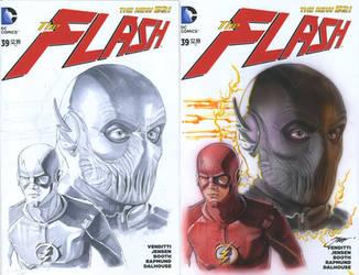 The Flash, with Zoom! Run, Barry, Run! by SteveStanleyArt