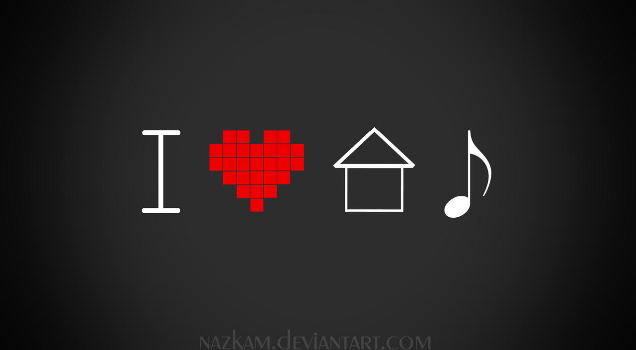 I heart house music by nazkam on deviantart for House music art