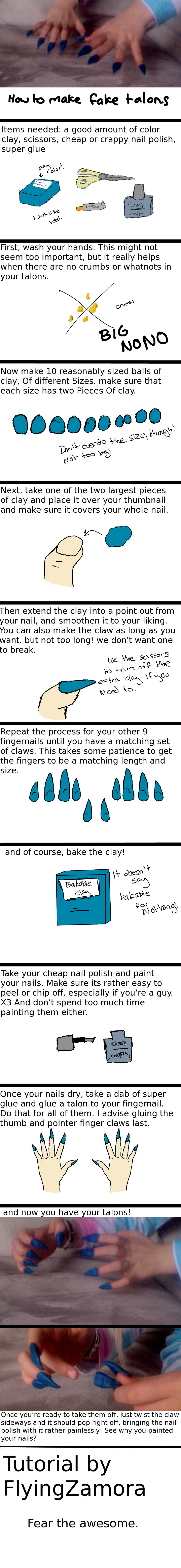 how to make fake talons