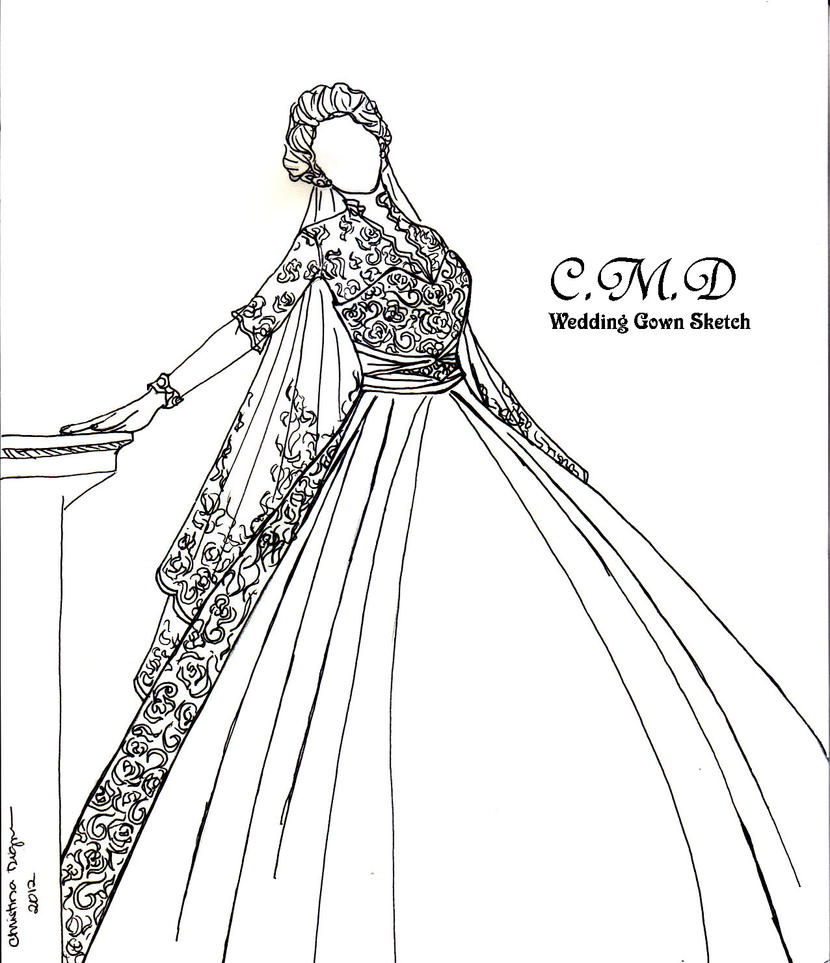 My Wedding Gown Sketch Collection by tinjosh on DeviantArt