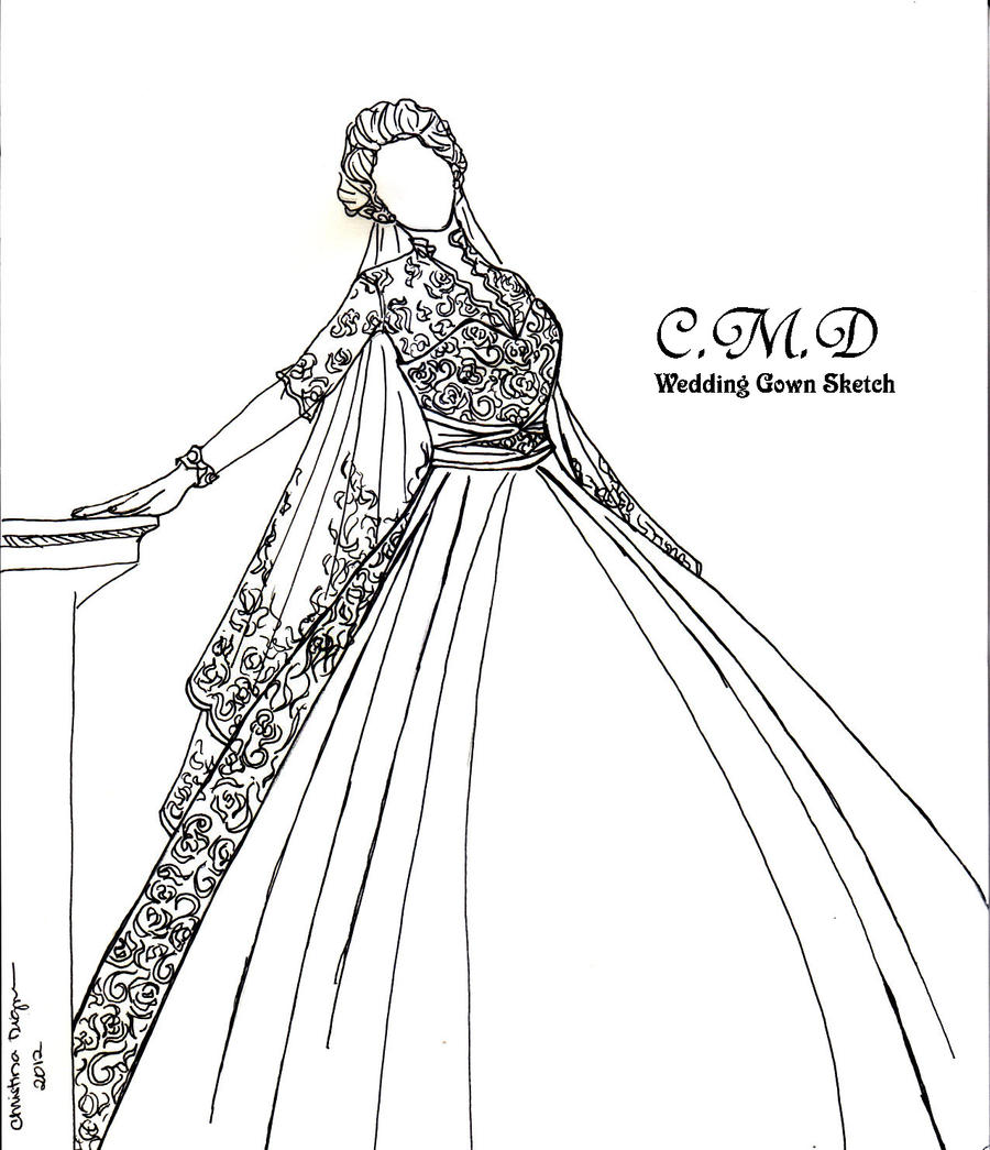 My Wedding Gown Sketch Collection By Tinjosh