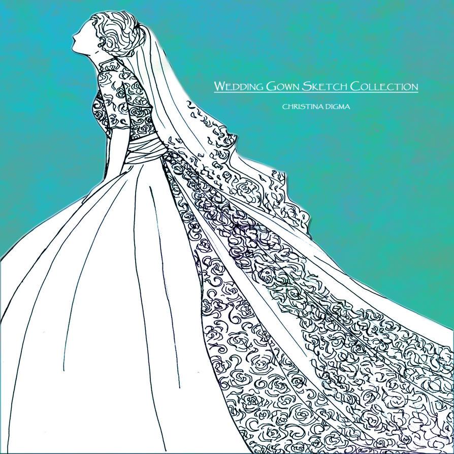 WEDDING GOWN SKETCH #10 by tinjosh on DeviantArt