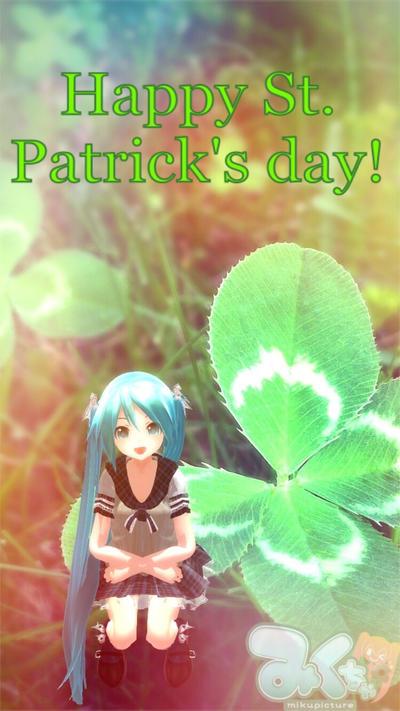Happy St. Patrick's Day!  by Ask-Miku-V3