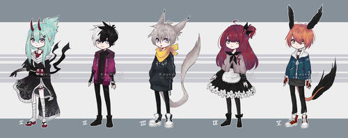 Adoptables Auction [OPEN 5/5] by Kageyumi