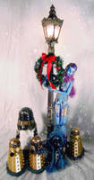 Astrid and Daleks in Snow