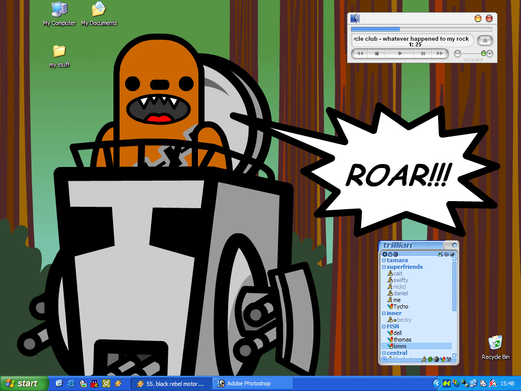 roaring good desktop by wetflame