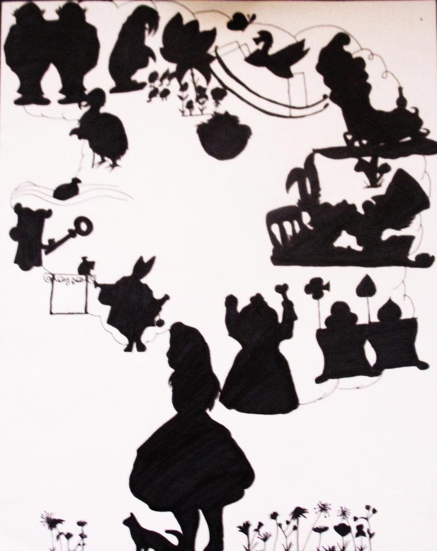 Alice In Wonderland Silhouettes By Kooko Xochiquetzal On