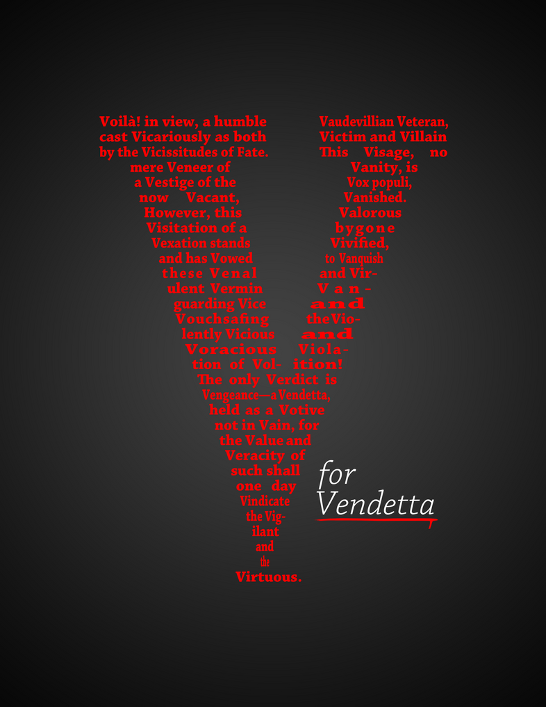 Alliteration V for vendetta alliteration Alliteration