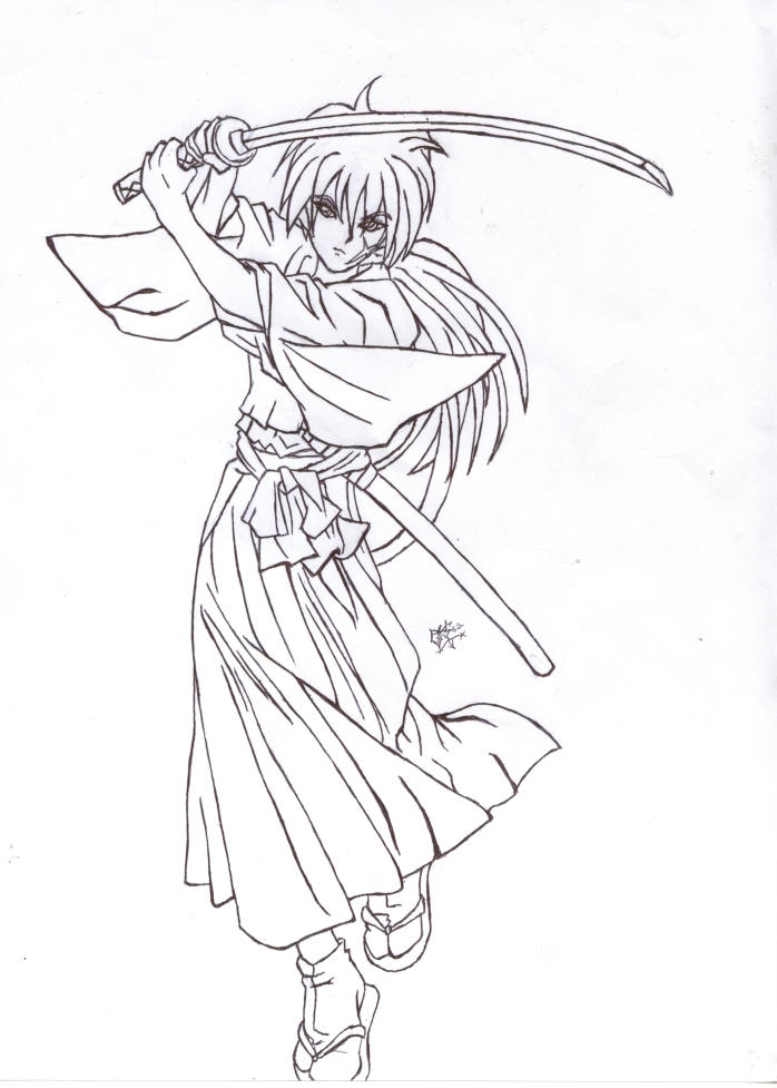 coloring pages for rurouni kenshin - photo#31