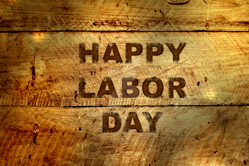 Labor Day (Burnt wood text effect tutor) by SpiderZed