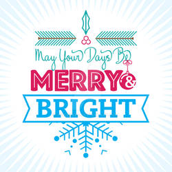 Holiday Theme Typography