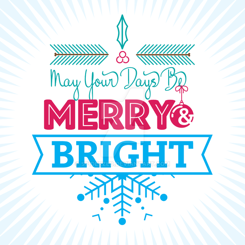 Holiday Theme Typography by SpiderZed