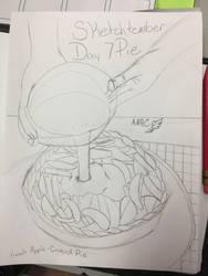 Sketchtember 2018 Day 7 Pie by CraneRelmaraVaerun