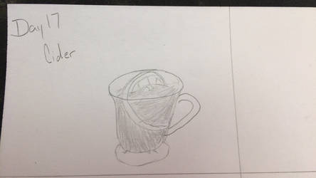 Sketchtember day 17 cider by CraneRelmaraVaerun