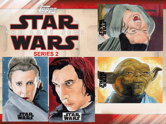 Topps The Last Jedi S2 Officially Licensed Art by amines1974