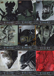 Aliens Sketch cards 2 by amines1974
