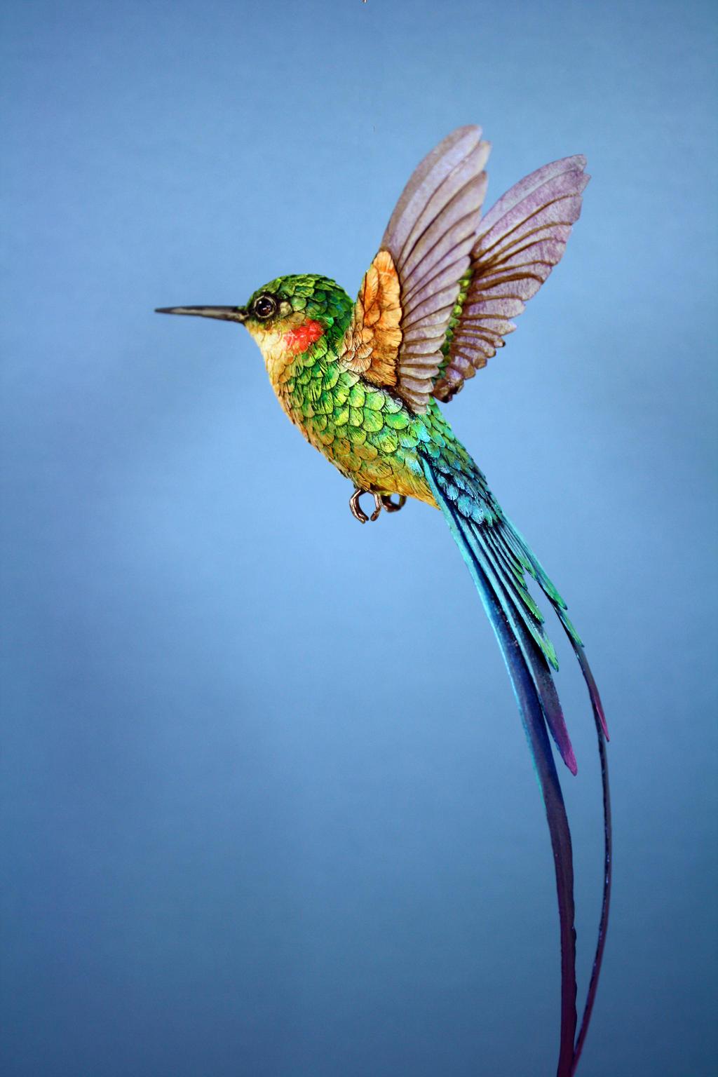 Paper Hummingbird5 by ZackMclaughlin