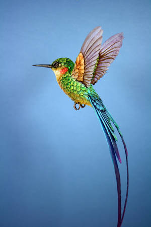 Paper Hummingbird5 by ZackMclaughlin