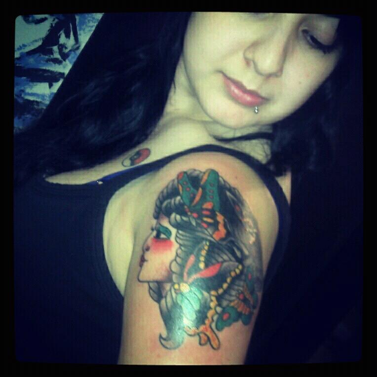Traditional Woman Tattoo by KayuKins