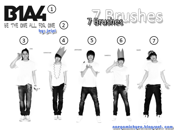 B1A4 Photoshop Brush by  B1a4 Logo Font